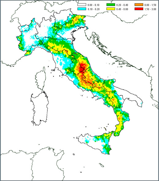 Serracapriola il terremoto del 2002 for Mappa sismica italia
